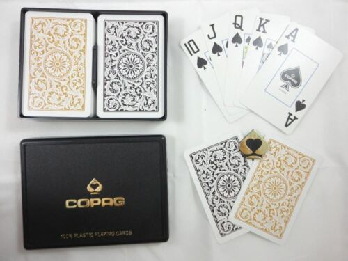 Bridge Copag 1546 Black /& Gold Super Index