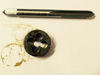 1pc HSS Machine M22 X 0.75mm Plug Tap and 1pc M22 X 0.75mm Die Threading Tool