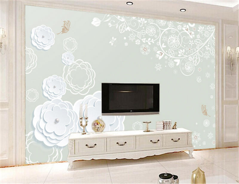 3D Weiß Flower Paint 994 Wallpaper Mural Paper Wall Print Wallpaper Murals UK