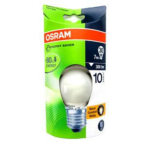 Osram Duluxstar 7 W = 30 W E27 Mini Ballon Chaud Confort Blanc Ampoule Poire Lampe O-afficher Le Titre D'origine