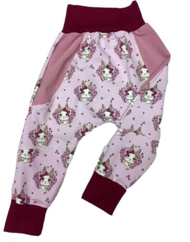 Gr.98//104 oder Gr.104//110 Kinderhose Pumphose Babyhose Handarbeit Jersey Neu