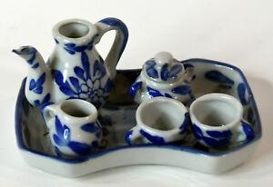 6-piece-Miniature-Doll-House-Accesories-White-Blue-PorcelainTea-Set-Teapot-Toys