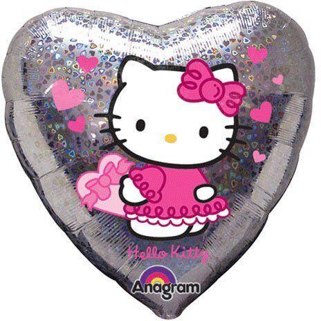 Herz Holografik Hello Kitty ANAGRAM 17292 Folienballon 45cm