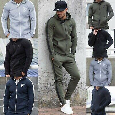 BBH Mens Gym Hoodie Fleece Slim Fit