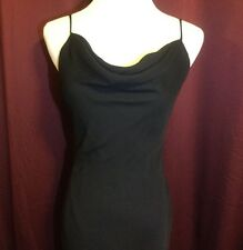 Be Smart Little Black Dress NWOT Size 3/4 Drape Neck Asymmetrical Hem  Lined