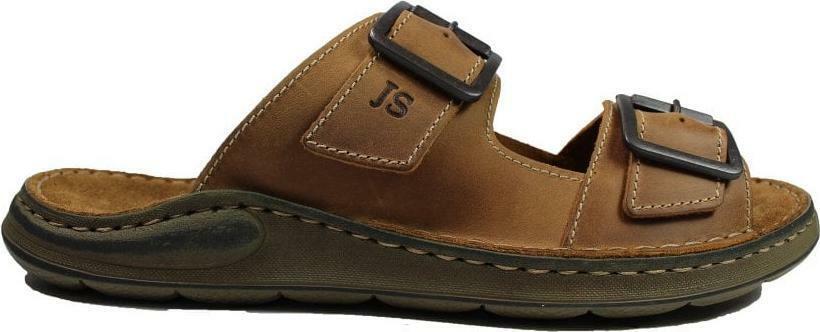 Josef Seibel Maverick 06 Brown Leather Mens Slip On Mule Sandals