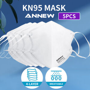 N95 KN95 Mask Disposable Masks Reusable Face Filter Anti Dust Respirator 5pcs