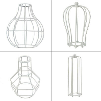 Long Fil forme cage vintage abat-jour Industrial Light cadre en métal Lampe UK
