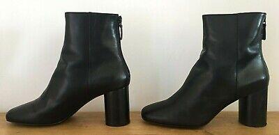 Sandro 'Sacha' Black Leather Ankle