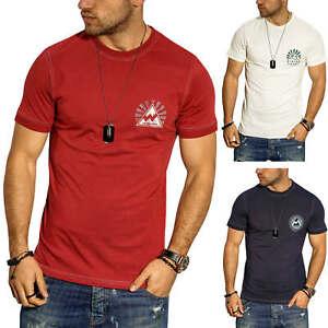Jack-amp-Jones-T-shirt-hommes-avec-Print-Manches-Courtes-Shirt-Homme-Chemise-Shirt-Casual
