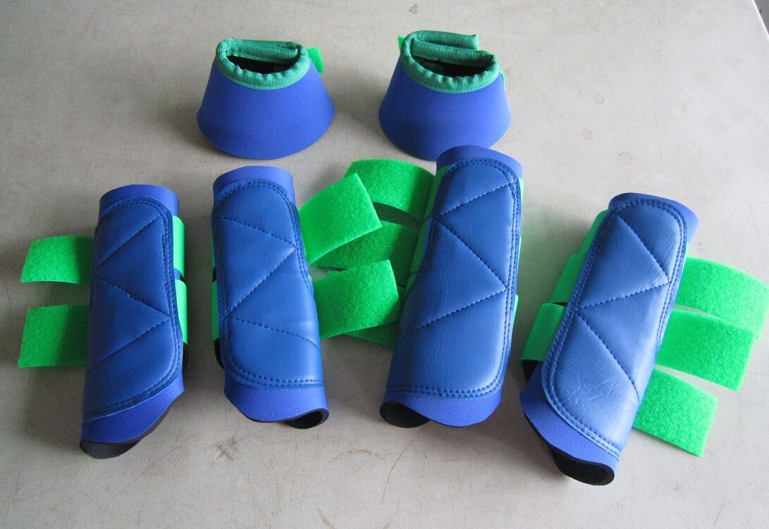Horse Exercise & Jumping Boots 2 Pairs & 1 Pair Bellboots Any size or colour
