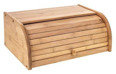 Bread bin hêtre bois//bambou en bois rouleau huche à pain poubelle cuisine stockage des aliments