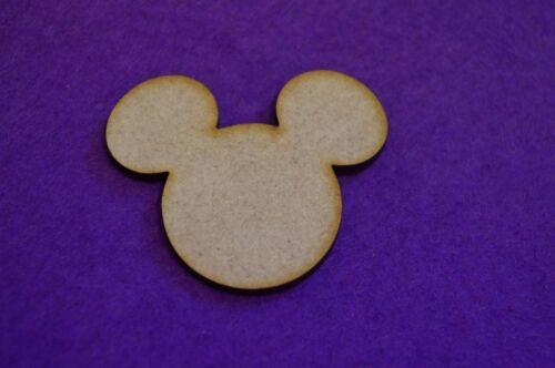 5 Cm-Corte Láser Forma De Madera 4 CM 3 CM Orejas de cabeza de ratón de MDF 2 CM