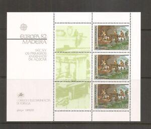 Portugal-Madeira-SC-81a-Sugar-Mills-15th-Century-EUROPA-039-82-Souvenir-Sheet-MNH