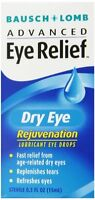Bausch & Lomb Advanced Eye Relief Rejuvenation Lubricant Eye Drops 0.50oz Each on sale
