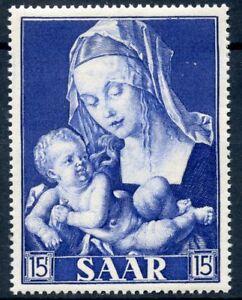 """STAMP / FRENCH COLONIES / SAAR / SARRE N° 333 ** MADONE ET ENFANT PAR DURER - France - Commentaires du vendeur : """"NEUF SANS CHARNIERE"""" - France"""