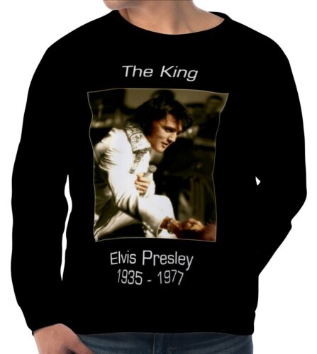 Elvis Presley Herren Sweatshirt Sweater Pullover wa5 aam20145