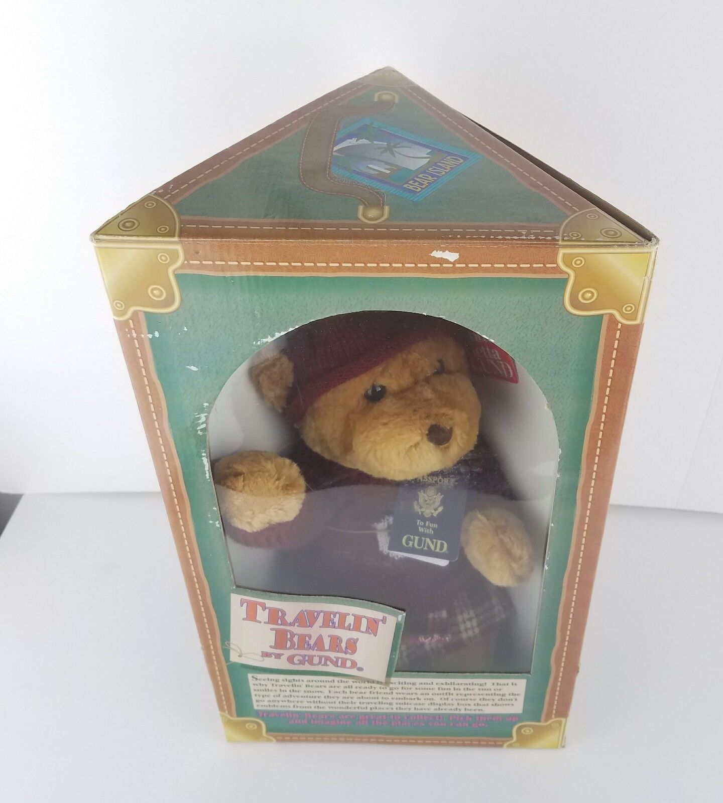 NWT Travelin Bear by Gund Braun Teddy Bear 14