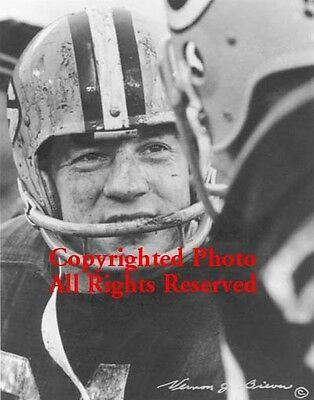 """Jim Taylor Signed by Photographer Packers Mud Bowl Classic B/W 11""""x14"""" Photo"""