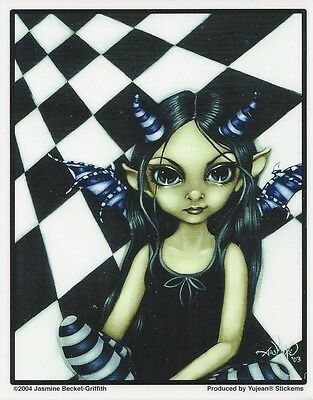 HORNED FAIRY Faery Sticker Car Decal Jasmine Becket-Griffith Strangeling faerie
