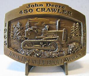 *John Deere Dubuque Works 450 Crawler Tractor Dozer 1997 Belt Buckle Limited Ed