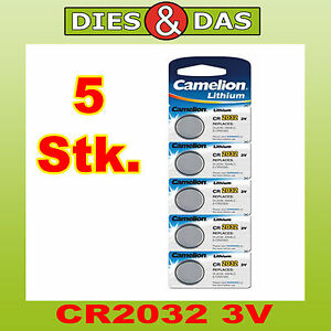 5-pieces-Camelion-CR2032-Lithium-3V