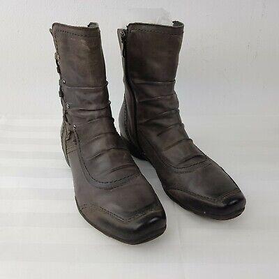 Bonita Soft Leather Womens Ankle Shoes Boots EUR 38 UK 5 Grey | eBay