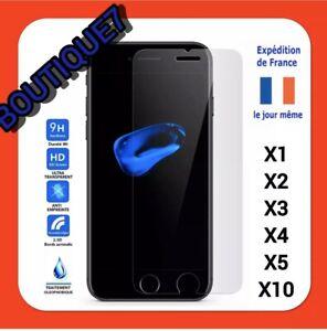 Vitre-iPhone-11-X-XS-XR-Max-8-7-SE-6-5-protection-verre-trempe-film-ecran-Glass
