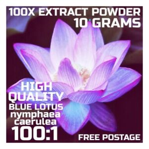 Blue-Lotus-Nymphaea-Caerulea-100x-Extract-Powder-10-Grams-Blue-Lily