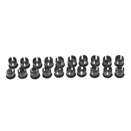 20PCS 5mm Black Plastic LED Holder Case Clip Display Panel SP
