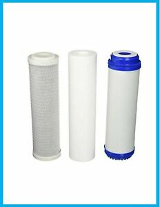 """Brand New 3 Stage whole house high flow home water filter replacements 10"""" x2.5"""""""