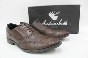 Goodwin-Smith-Herren-Braun-Leder-Clayton-Oxford-Schnuerer-Brogue-Schuhe-uk9-eu43