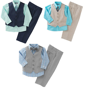 MSRP $50 Kenneth Cole Reaction Boys/' 4-piece Vest Set