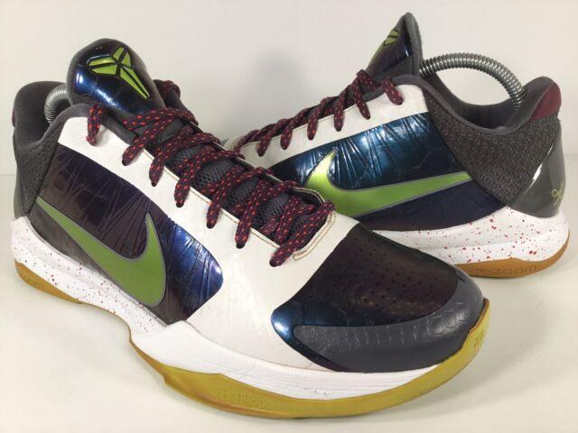 best sneakers f2537 a71a5 Nike Zoom Kobe 5 V Chaos Joker Purple White Green Mens Size 9 Rare  386429-531