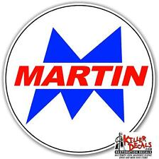 "12"" MARTIN GASOLINE GAS PUMP OIL TANK DECAL"