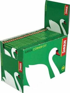 Swan-Regular-Green-Corner-Cut-Cigarette-Rolling-Paper-100-Booklets-5000-papers