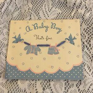 Vintage greeting card welcome baby boy blue birds norcross ebay image is loading vintage greeting card welcome baby boy blue birds m4hsunfo
