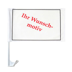autofahne autoflagge fussball just married eigenes motiv logo foto wunschdruck ebay. Black Bedroom Furniture Sets. Home Design Ideas