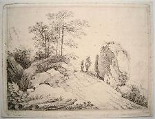Landschaft Reiter Kupferradierung  Franz Rechberger (Wien 1771 - 1841) um 1800