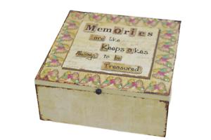 Memory Box I Believe in Angels Keepsakes Cream Wood Guardian Childs Memories