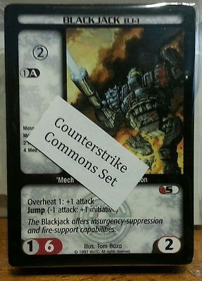 Complete Com//Unc Counterstrike Expansion Set BattleTech CCG TCG Card Game
