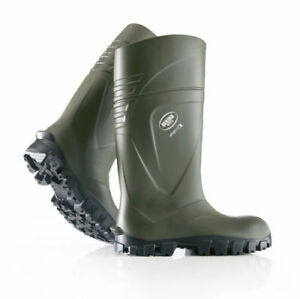 Bekina Steplite X Full Safety Wellington Boots Wellies Welly Green Insulated S5