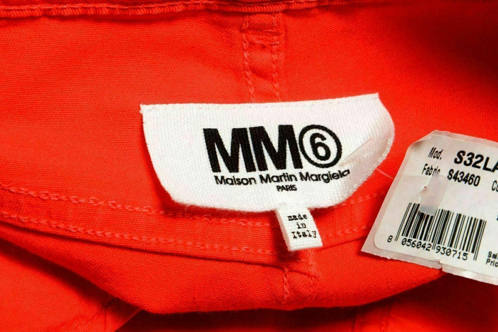 Maison Maison Maison Margiela Mm6 da Donna Rosso Stretch Jeans Aderenti Us 6 31b618
