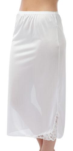 "Ladies BHS 20/"" 24/"" 31/"" Half Slips Cling Resist Underskirt Black White Size 10-22"