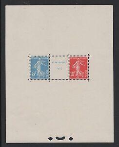 FRANCE-BLOC-FEUILLET-2-034-EXPO-PHILATELIQUE-STRASBOURG-1927-034-NEUF-xx-LUXE-M834