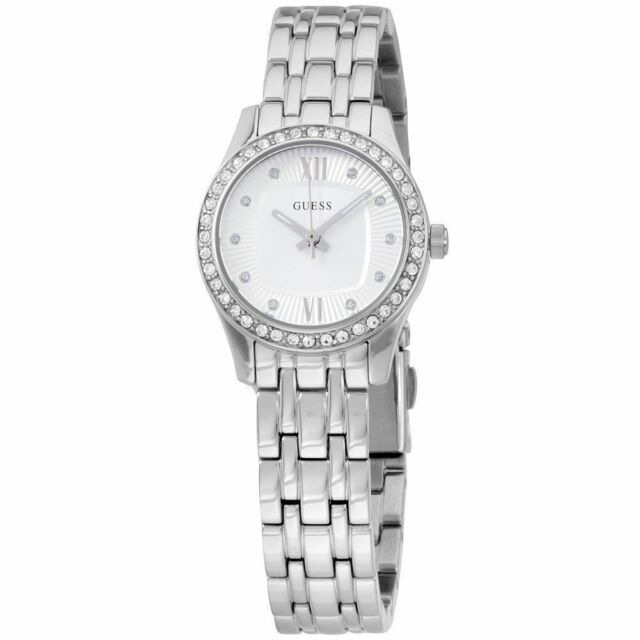 a51e31768 GUESS Analog Silver Dial Stainless Steel Ladies Watch W0762L1 for ...