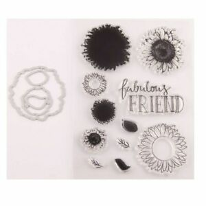 Sunflower-Seal-Stamp-With-Cutting-Dies-Stencil-Set-DIY-Scrapbooking-Embossing
