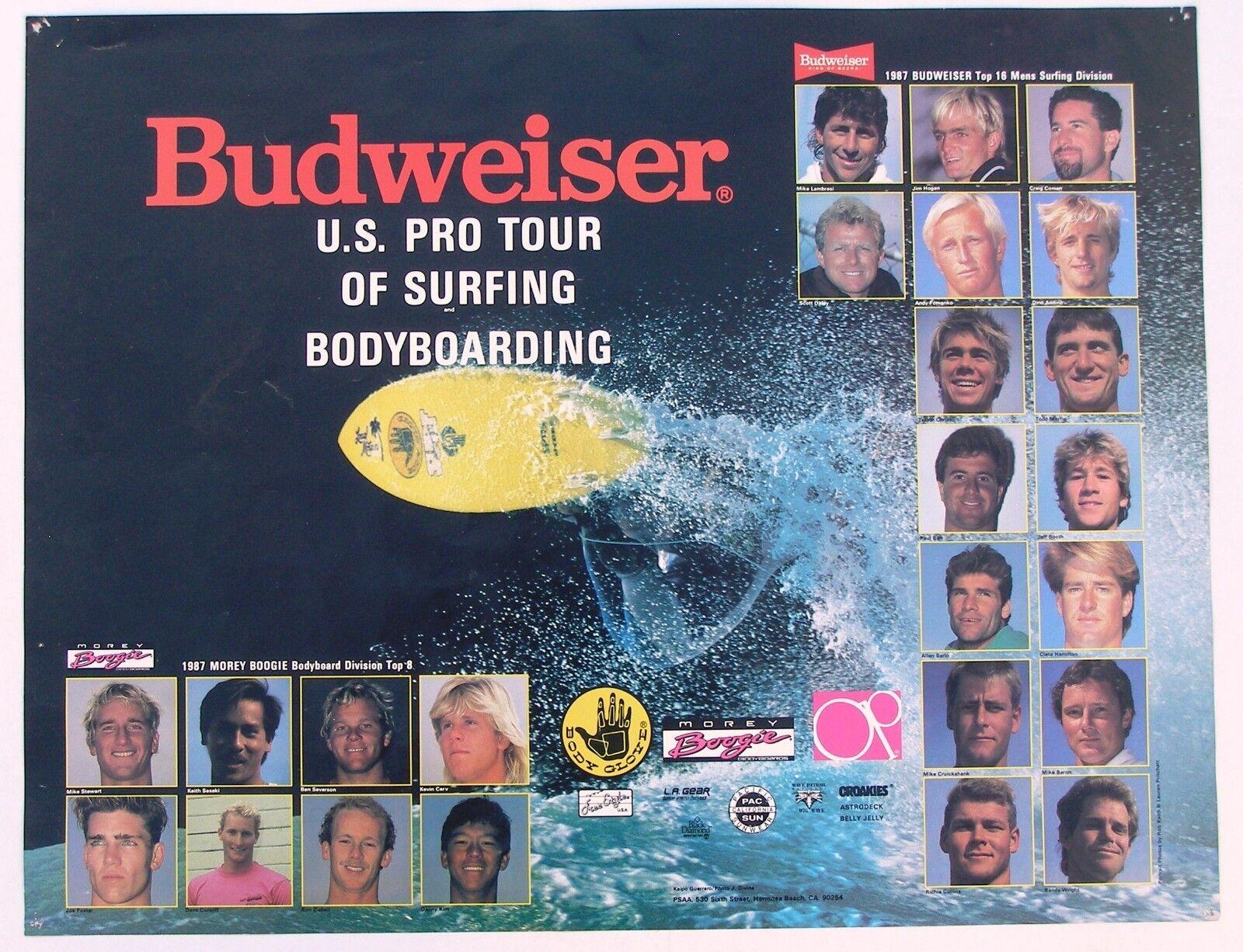1987 Budweiser EE. UU. Pro Tour de surf cuerpo Cochetel de embarque
