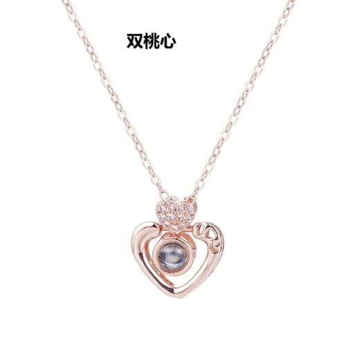 I LOVE YOU in 100 languages Pendant Necklace Romantic Day Christmas Gift