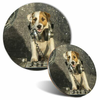 Jack Russell dog cork backed drinks Coaster